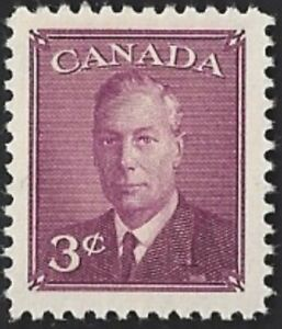 Canada-291-King-George-VI-Omitted-Postes-Postage-New-1950-Issue-04