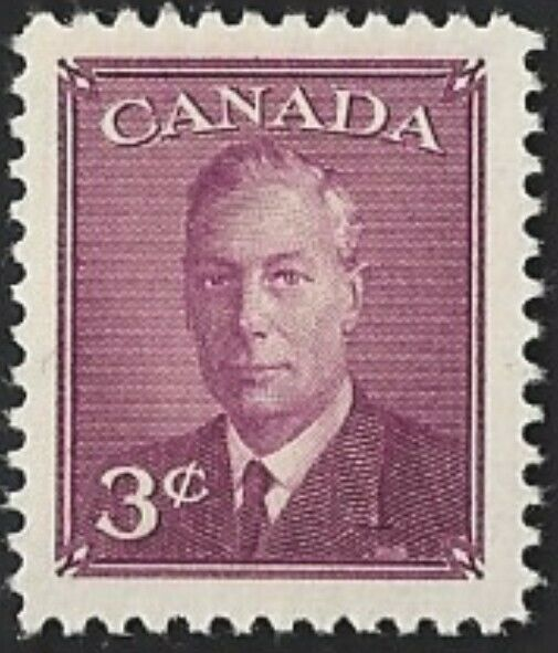 Canada  # 291  King George VI  Omitted Postes Postage  New 1950 Original Issue