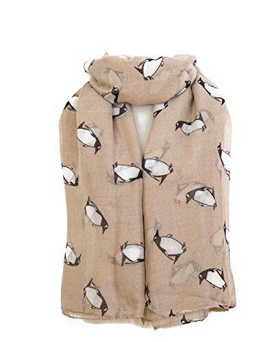 Pinguin Aufdruck Damen Mode Maxi Schal gewickelt Sarong Lang Weich Warm