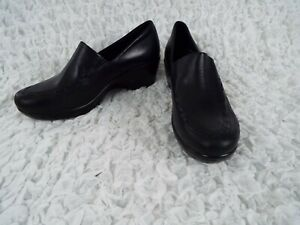 Ariat-Black-Leather-Clog-Moccasin-Loafer-Slip-On-Shoes-Womens-Size-7-B