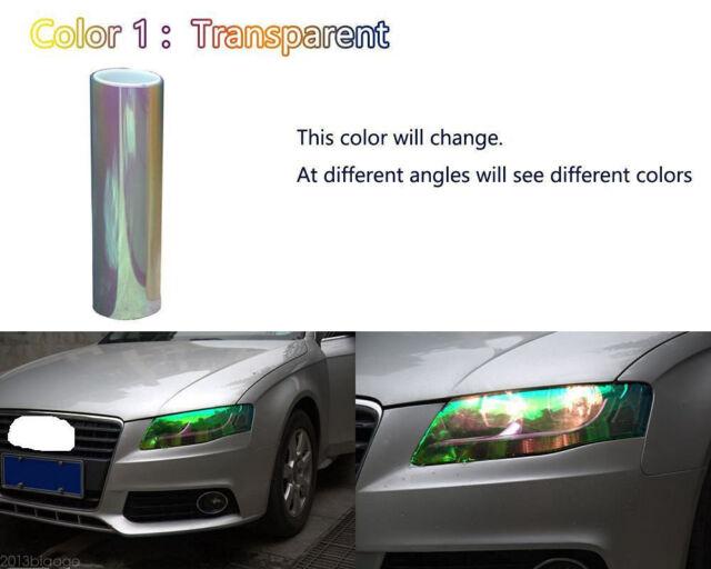 Autos Tailight Headlight Chameleon Colorful Clear Tint Vinyl Film Cover 200x30cm