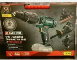 PARKSIDE 20V 4-IN-1 Cordless Combination Tool DRILL, SAW, MULTI Tool Sander -NEW