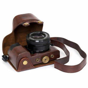 New-Stylish-PU-leather-Camera-Bag-Case-Cover-Pouch-For-Sony-A5000-A5100-NEX-3N