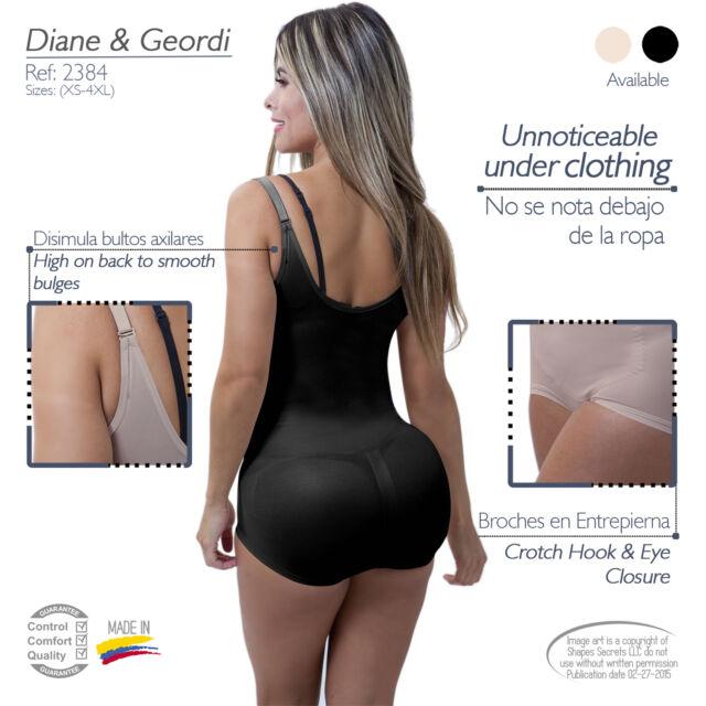 67487a9e2e56a Diane Geordi 2384 Invisible Body Shaper Faja Colombiana Body Control  Underwear Latex Black 2xl for sale online