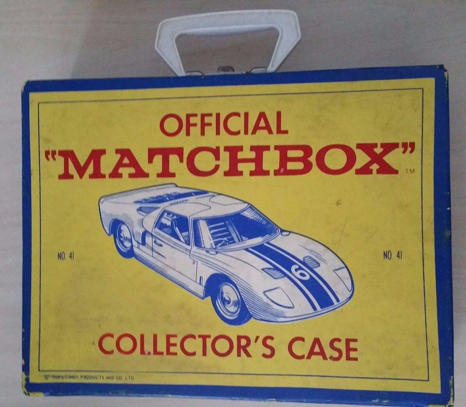 Vintage Vintage Vintage Lot of 48 Matchbox, Lesney Cars and Collectors Case 5a161c