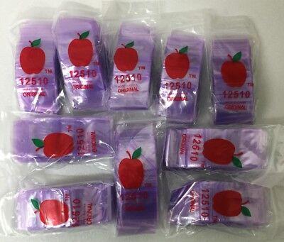 200-1.25 x 1.25 Clear 2 mil Plastic Ziplock Baggies Green Tone