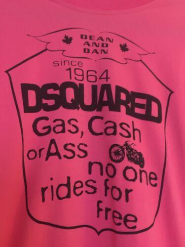 Shirt Pink für oder Dsquared Esel Medium M Italy niemand reitet freies T Benzin Herren wU4zaqt