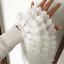 DIY 1M 3 Layer Bead Pearl Ruffled Lace Pleated Chiffon Fringe Trim Fabric