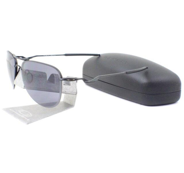 dff817ccd0 Oakley OO 4086-09 TAILPIN Satin Black Grey Mens Wire Sports Sunglasses