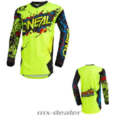2020 O/'Neal Element Villain Neongelb Jersey Trikot mx motocross mtb Enduro DH