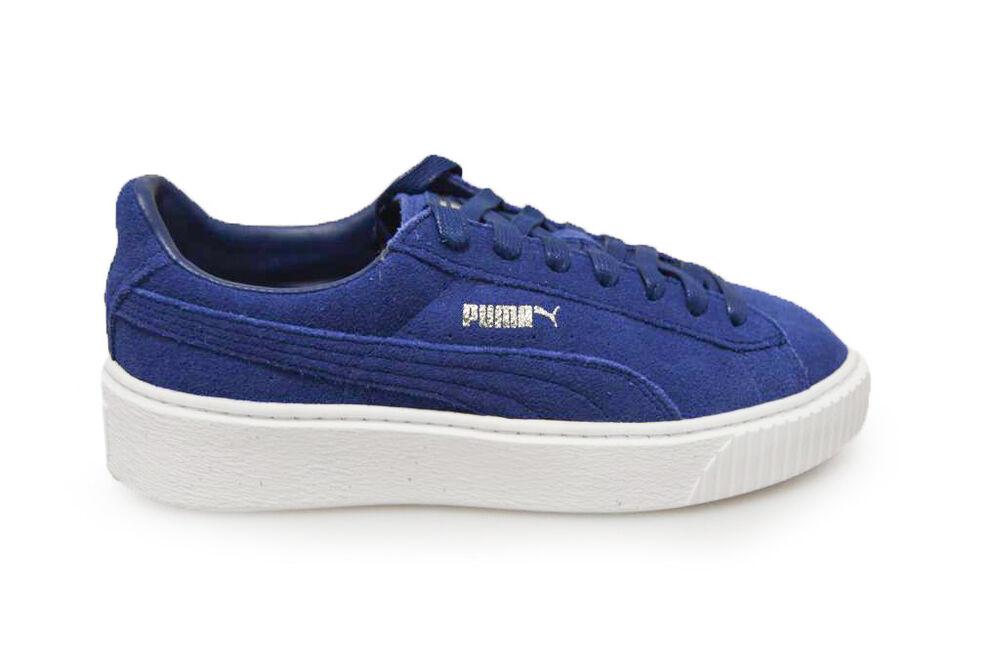 compensées Bleu daim Puma en Baskets 36222302 Femme Chaussures apwq88