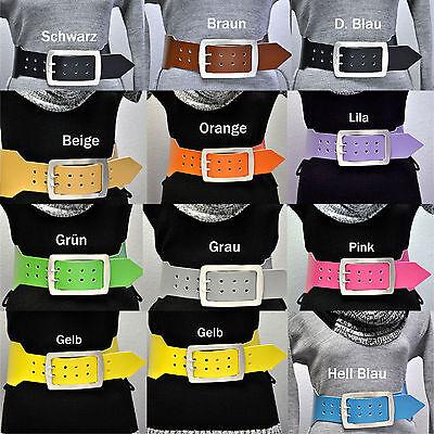 Fiducioso Larga 10cm Pelle Alla Moda Cintura Guaine Belt Lunghezza Selezionabile 2,2mm Dick Allacciatura-mostra Il Titolo Originale Belle Arti