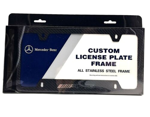 AMG Carbon Fiber License Plate Frame Mercedes-Benz CLA45 C63 E63 G63 S63 SLK55