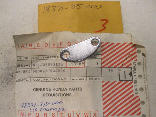 Nos Honda Exhaust Muffler Lid E1500 Eg1500 Er1500 E2500