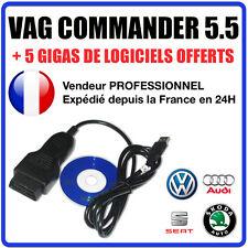 VAG COMMANDER 5.5 - Correction KM Reprogrammation clés Ajout d'options COM VAG