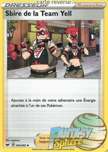 VF Sbire de la Team Yell Pokemon 184//202/_R EB01 Epee Bouclier Reverse