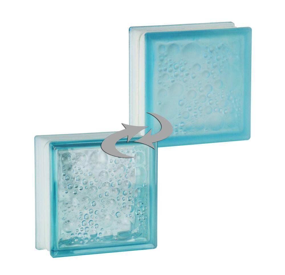 5 Stück Fuchs Glasbausteine Glassteine Vollsicht Klar 19x19x8cm