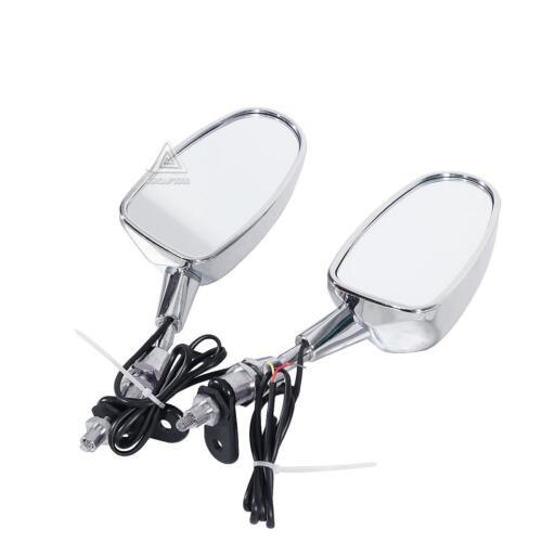 2x Rearview Side Mirrors LED Turn Light for Suzuki GSXR 1300 Hayabusa 1999-2008