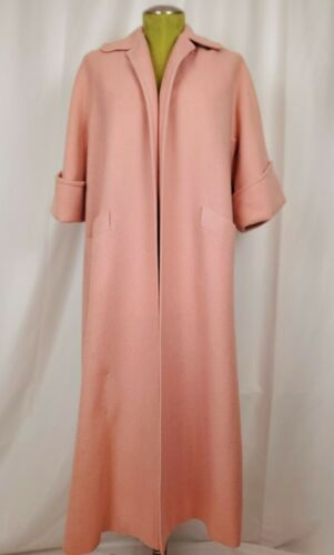 VTG Vintage 50s 1950s Pink Wool Swing Coat L/XL