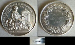 Médaille Argent Massif Prix De Couture Rhone Lyon Silver Medal 1886 38 Gr Xhd2d8le-10122048-428925351