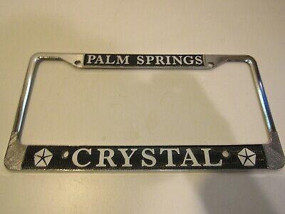 Palm Springs License Plate Frame Tag Holder