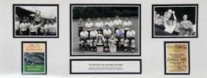 LES ALLEN SIGNED TOTTENHAM SPURS 30x12 FOOTBALL PHOTO 1961 DOUBLE WINNERS PROOF