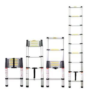 6.5FT 8.5FT 10.5FT Aluminum Multi-Purpose Telescopic Ladder Extension Loft Steps