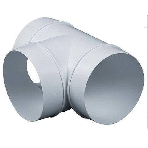 Verbinder T-Stück Lüftungsrohr ABS Rundrohr Ø 100 125 150 mm Abluft-Rohr