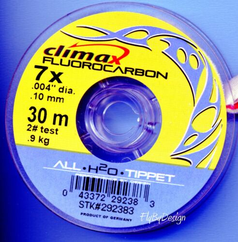 Climax Crystal Clear 7x 2 Lb. test Fluorocarbon Fly Fishing Tippet Material