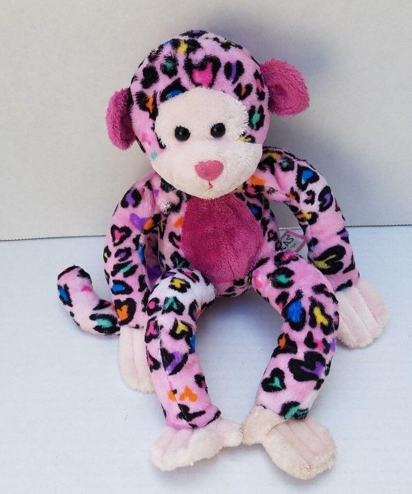 Douglas das kuscheln affen cheeta weichen Rosa herz spielzeug gefüllt print - 12