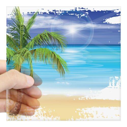 1268909125 CafePress Beach Scene Sticker Square Sticker