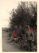 15495/ Originalfoto 7x9cm, Soldat+Krad in Malogrokrowka, Russland 1942