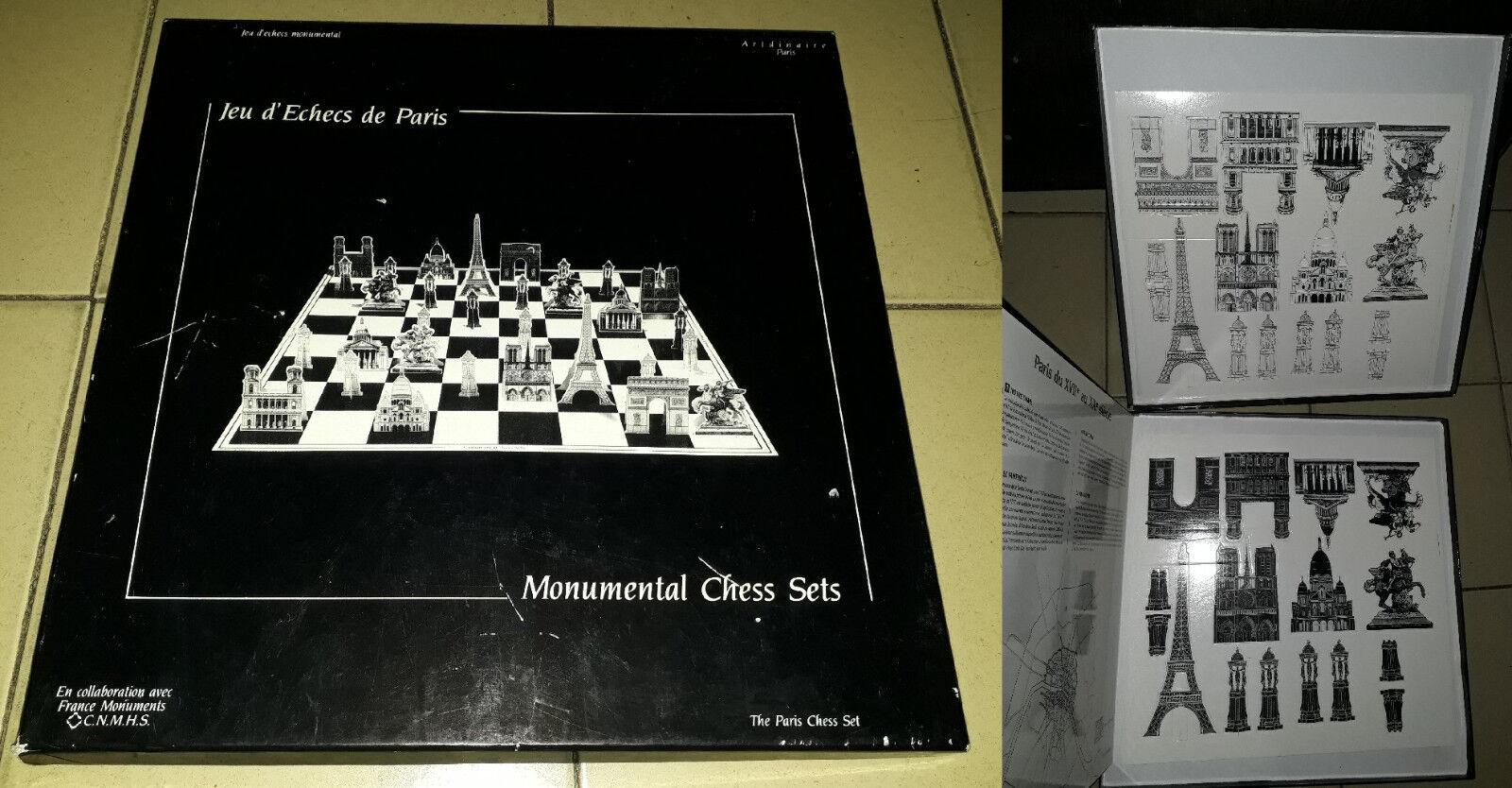 Jeu d'echecs monumental de Paris, M.J Grant, M.C. Frost. Chess sets. CNNHS.