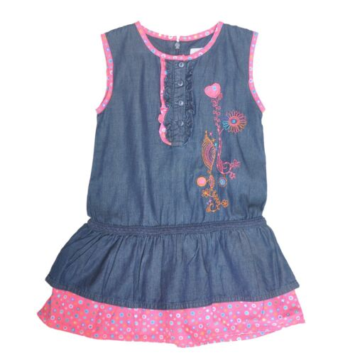Influx Baby//Toddler Girls Blue Soft Cotton Denim Dress Size 18M//24M