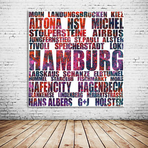 hummel hummel hamburg leinwand bild 60x60 cm einmalig zum bestpreis ebay. Black Bedroom Furniture Sets. Home Design Ideas
