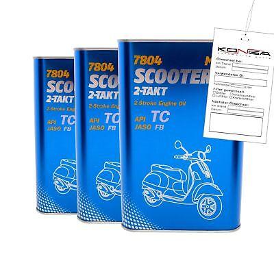 3 Liter MANNOL 7804 Scooter 2-Takt API TC Motoröl Motorradöl