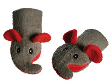 Waschhandschuh Maus weiß Waschlappen Maus Kinder Baby Baden Handschuh Handpuppe