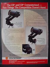 1994 Celestron C8+ C8+ Computerized Telescope Astronomy Vintage Print Ad 12584