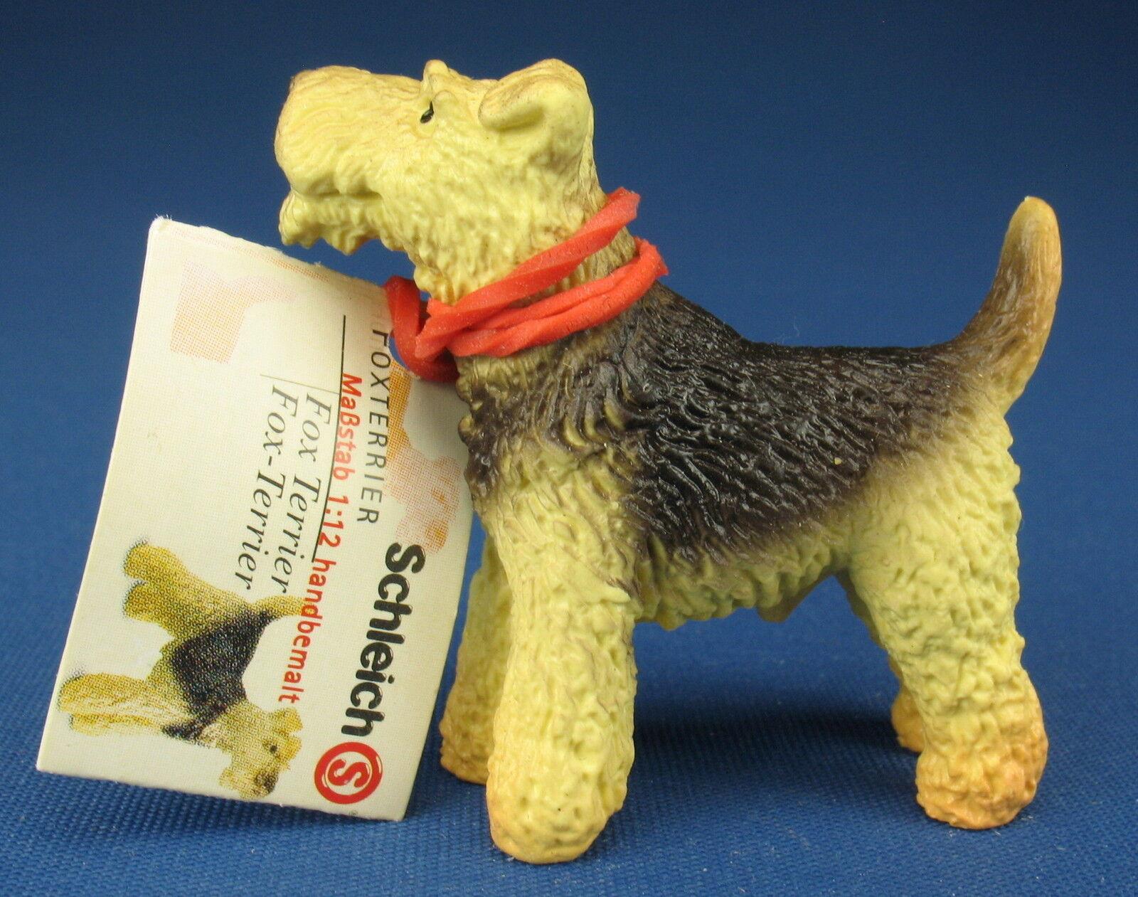 SCHLEICH 16310 - Foxterrier - mit Kärtchen - Fox Terrier - 1:12 - Hund Dog 5