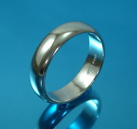 925 Sterling Silver Plain Wedding Band Ring UK HALLMARKED Mens-Ladies All Sizes