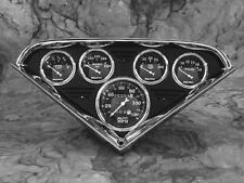 55 56 57 58 59 Chevy Truck Anodized Black Gauge Panel Dash Insert Instrument