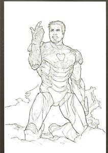 Iron Man THE SNAP ORIGINAL ART COMMISSION SKETCH by Steve Kurth 11 x 17