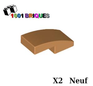 Curved 2 x 1 No Studs Medium Dark Flesh Lego 11477 x2 Slope