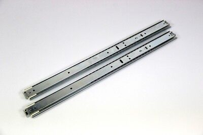 """Length 535/1115 Mm Orderly 2x Telescopic Rail 17 """" Full Extension With Locking 50 Kg Colours Are Striking"""
