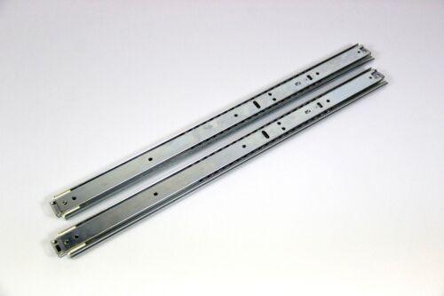 2x Teleskopschiene 17 Vollauszug mit Arretierung - Länge 535/1115 mm - 50 kg