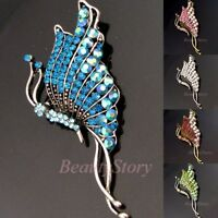 ADD'L Item FREE Shipping - Rhinestone Crystal Bouquet Butterfly Brooch Pin