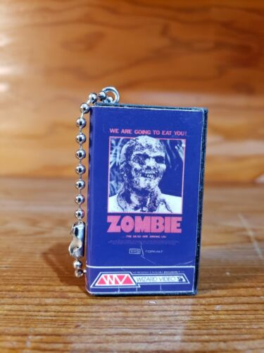 ZOMBIE  classic horror movie Blu Ray Vhs Keychain