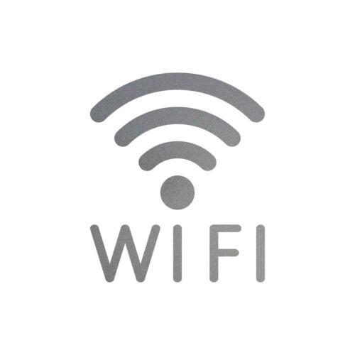 Aufkleber Tattoo WIFI 12cm silber WLAN Hotspot kostenlos Internet Zugang Zeichen