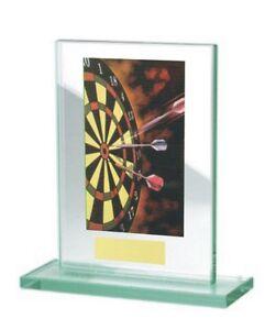 Glas-Pokal mit farbigem Hologramm (WH511-Darts) inkl. Gravur nur 17,75 EUR