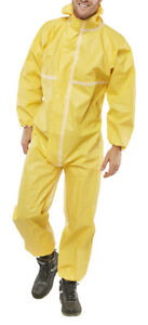 1-x-Click-Once-Yellow-Microporous-Disposable-Coveralls-Overalls-Suit-Paint-Spray